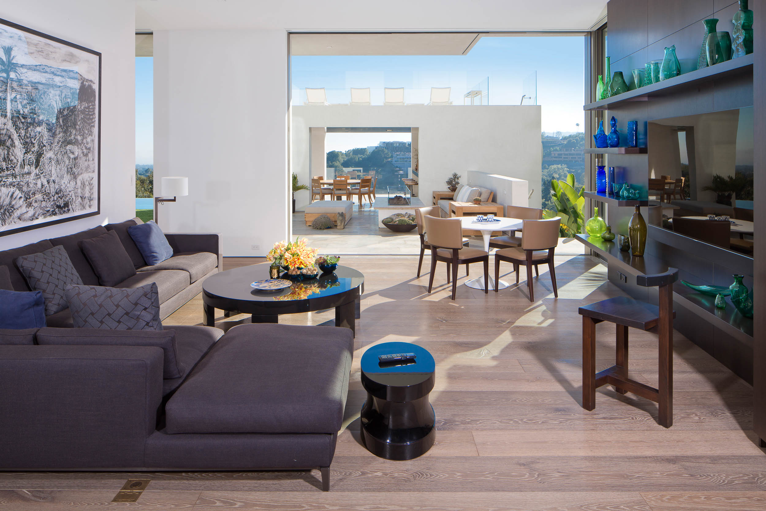 living room with overlook