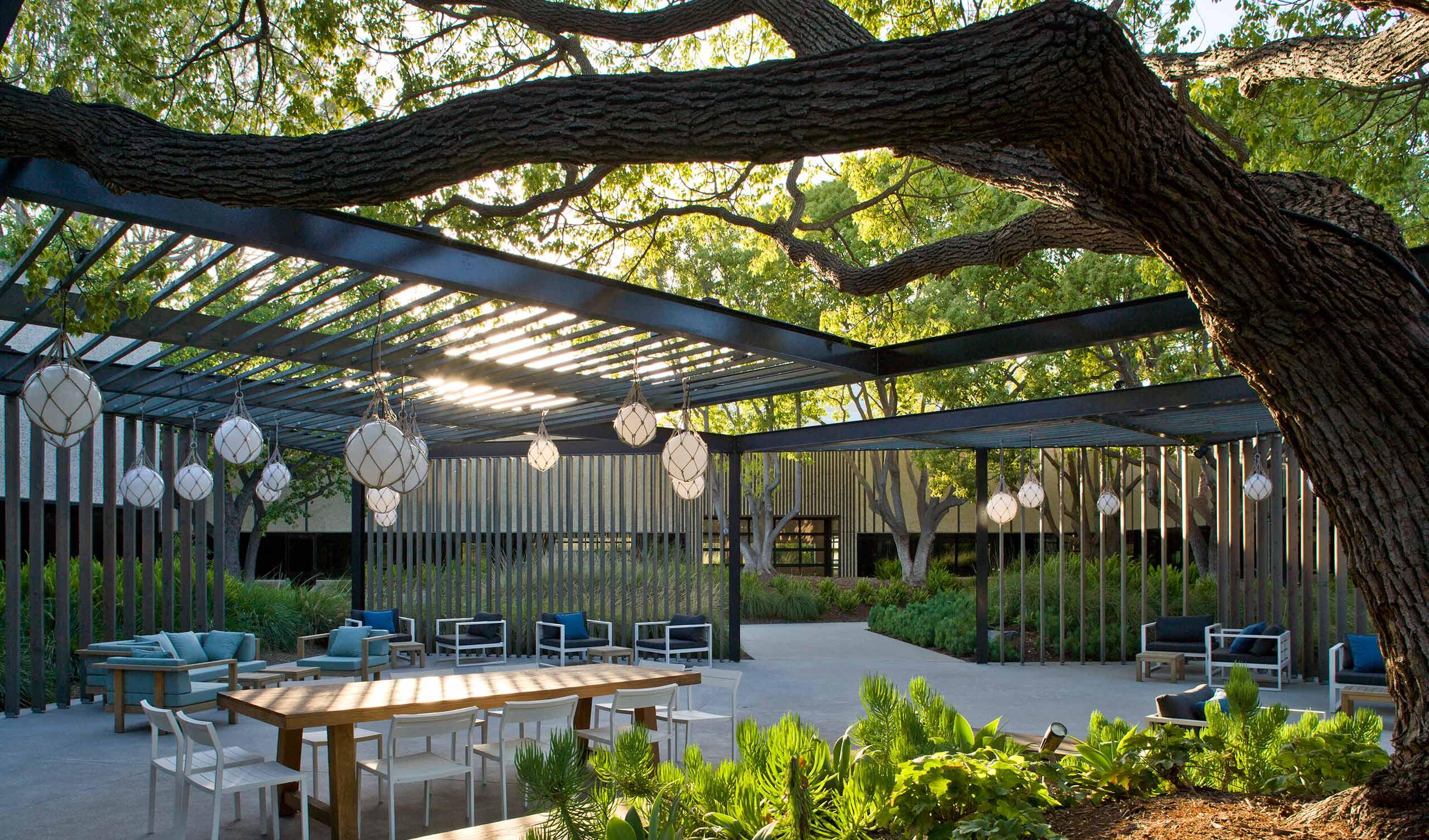 The Yard San Diego garden gathering area