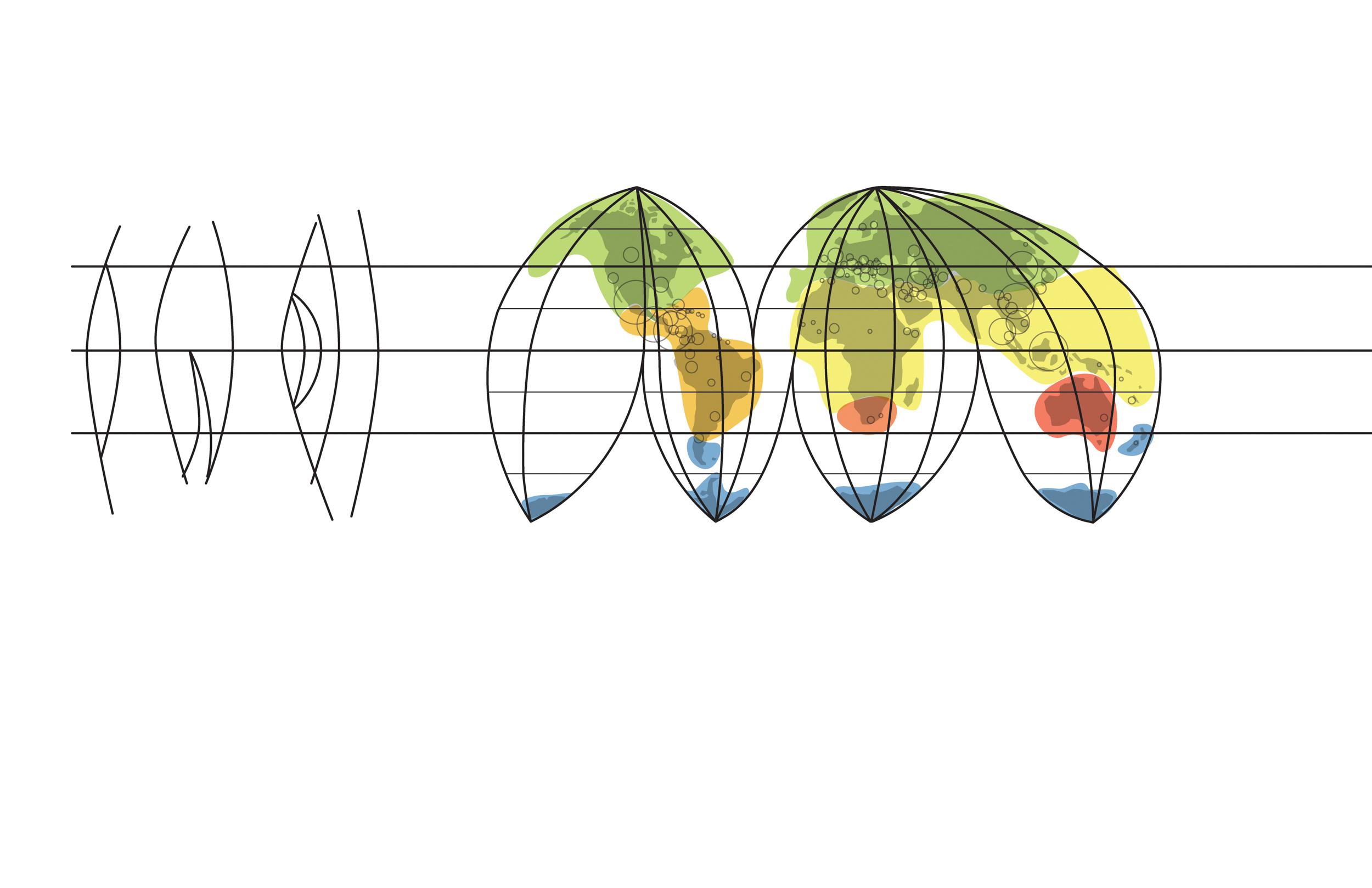 Goode's homolosine projection
