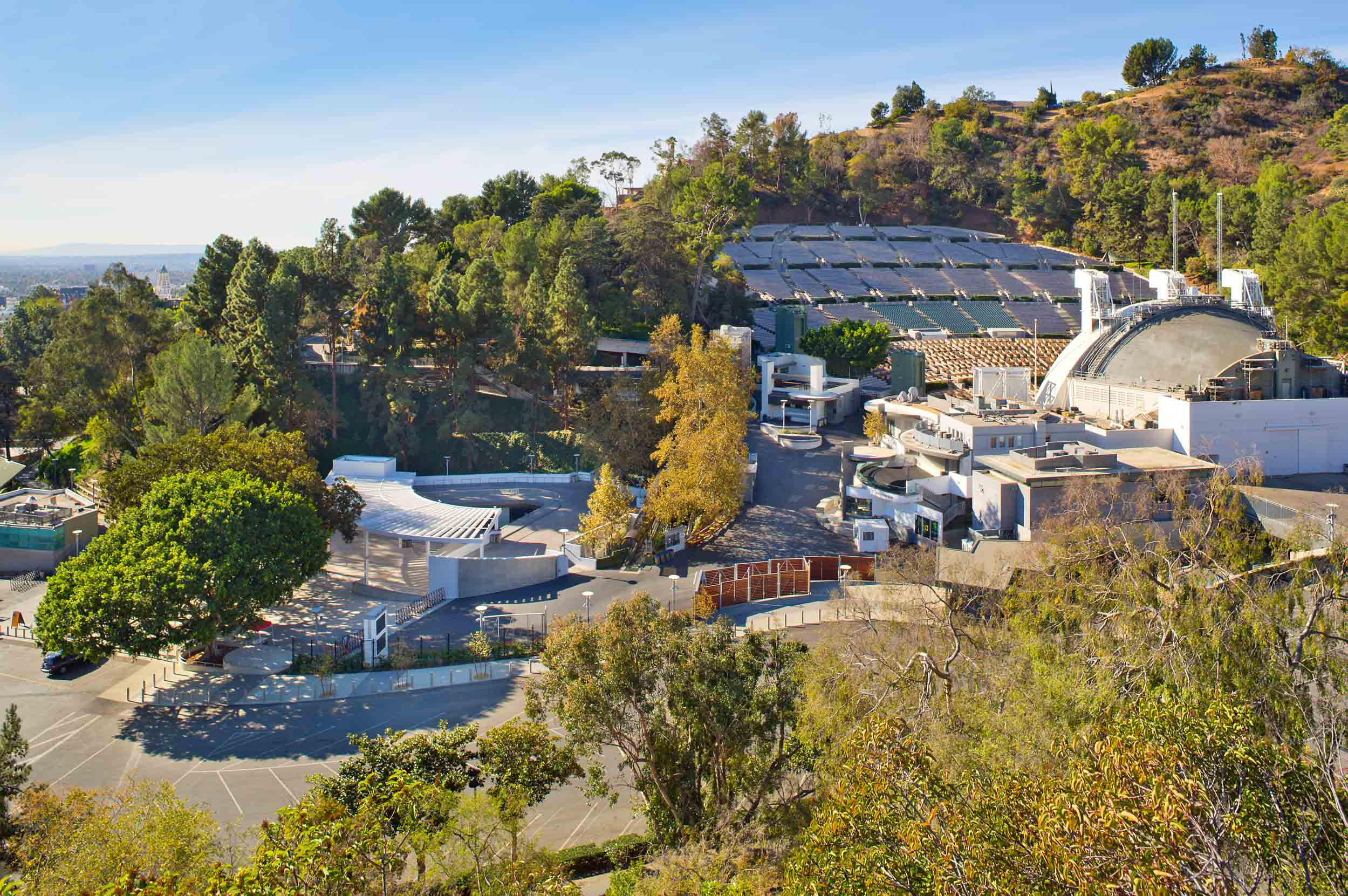 A view of the Hollywood Bowl from above