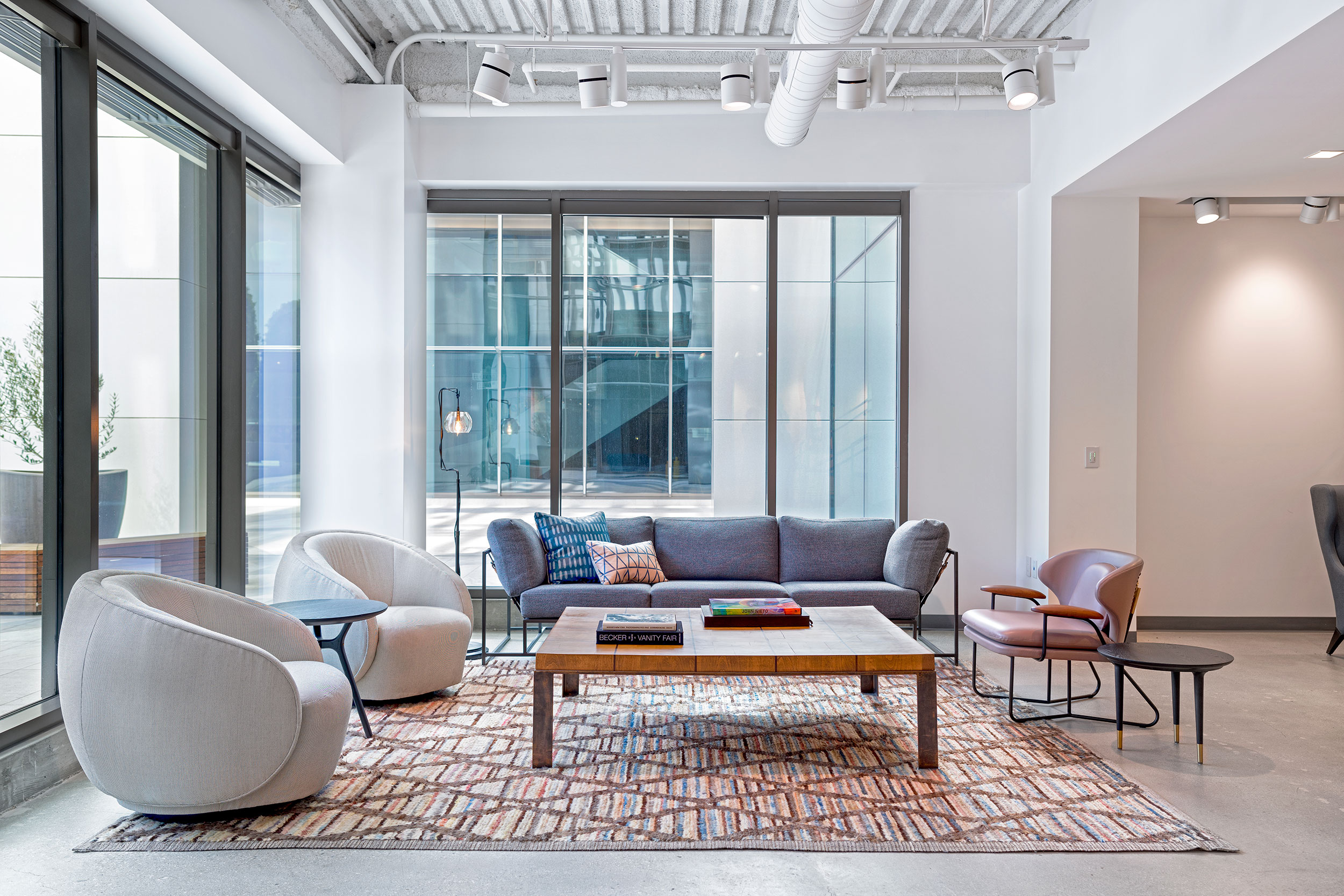office area in living room. It\u0027s Just One Of A Variety Public Spaces That Includes Formal Conference Room, An Informal Living Area Where The Entire Staff Can Congregate, Office In Room I