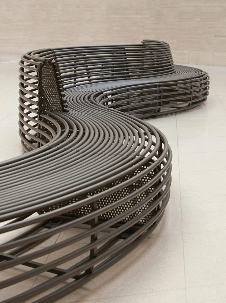 Rio bench produced by Janus et Cie and designed by Rios Clementi Hale Studios