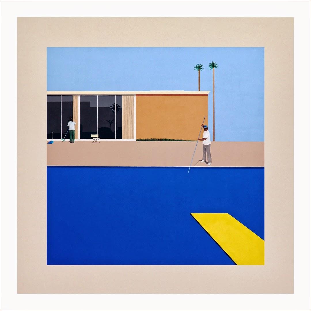 """No Splash"" After David Hockney's ""A Bigger Splash,"" 1967, by Ramiro Gomez, 2013"