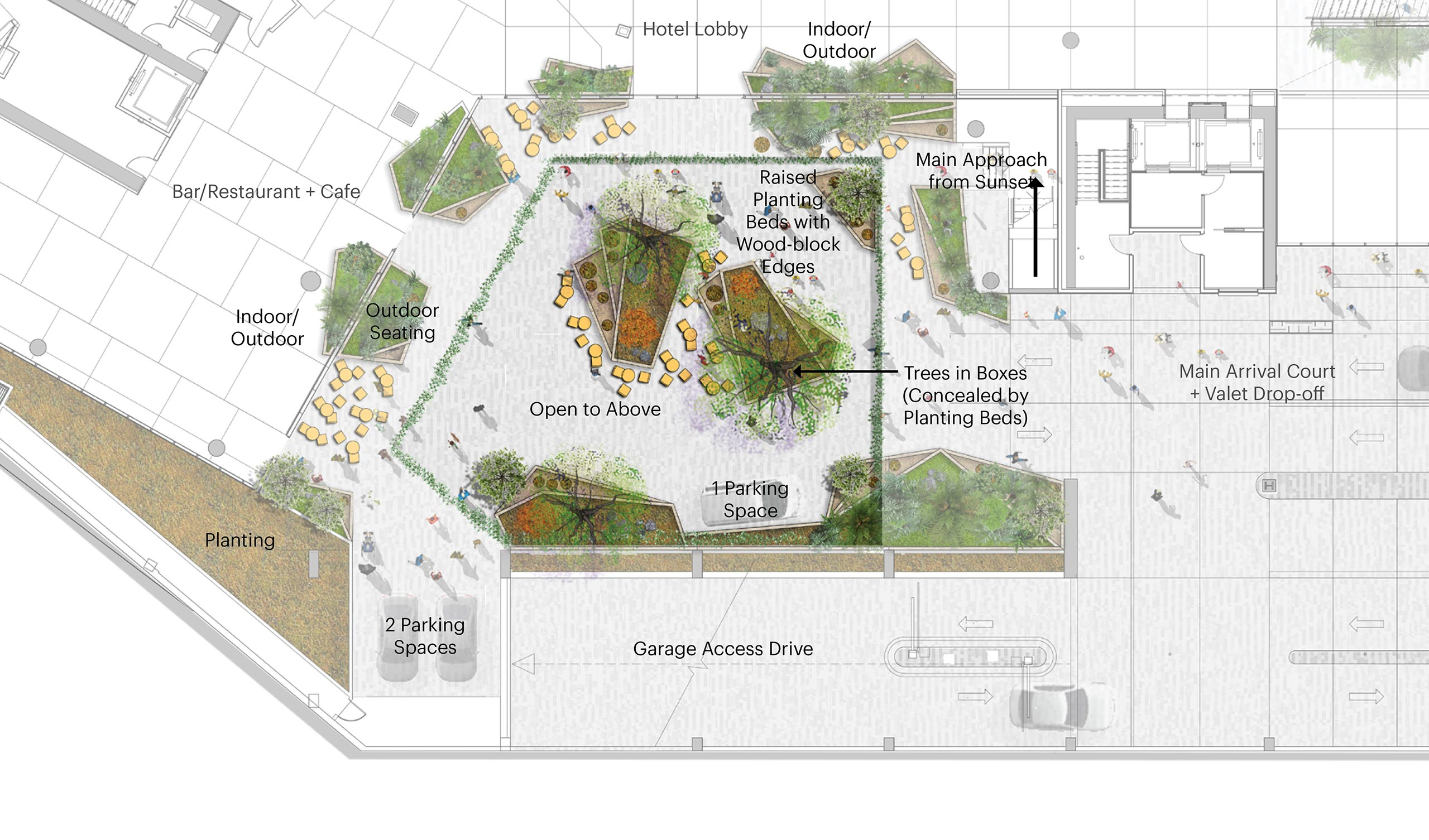 1 hotel Secret garden plan