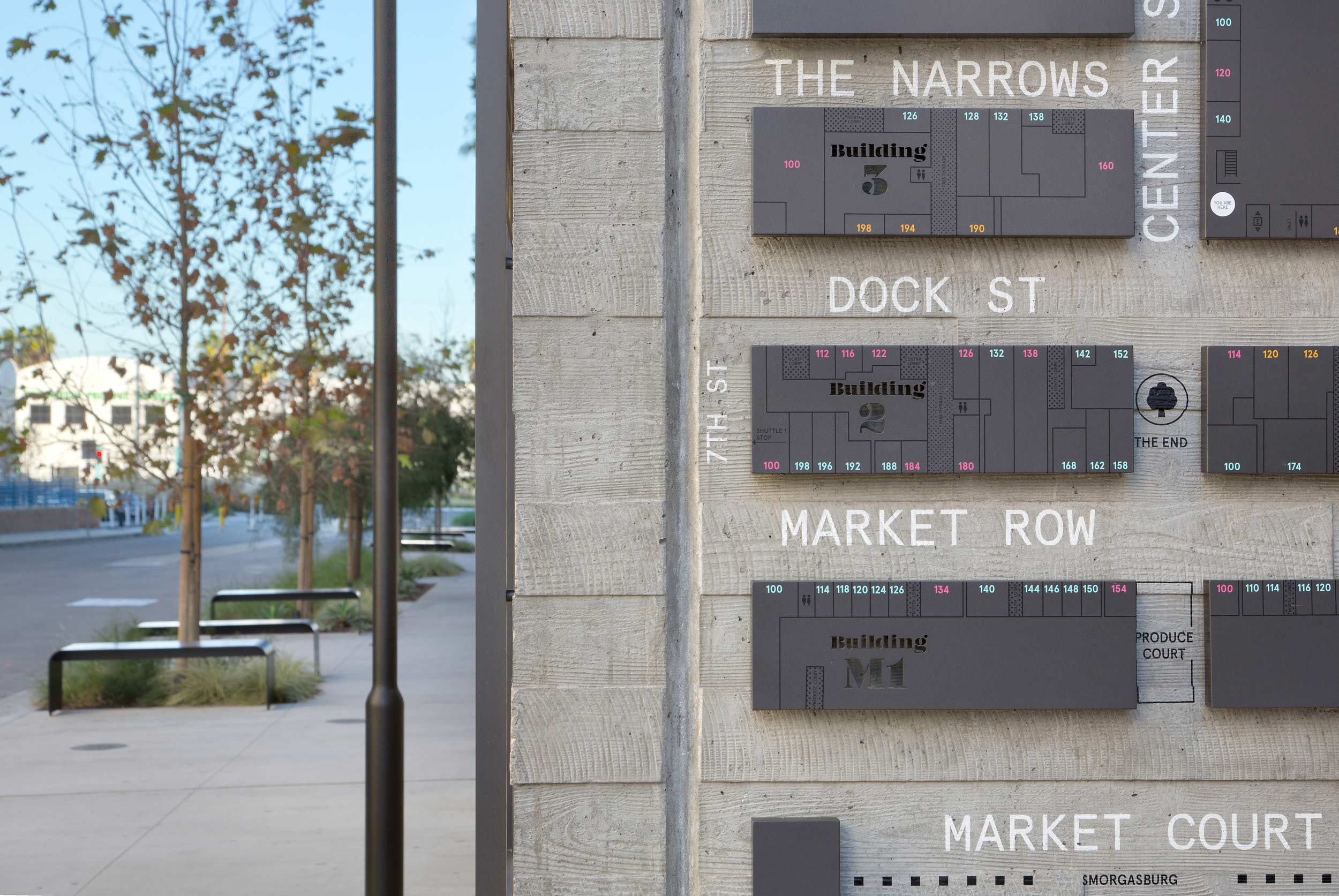 close up of ROW maps on a concrete wall