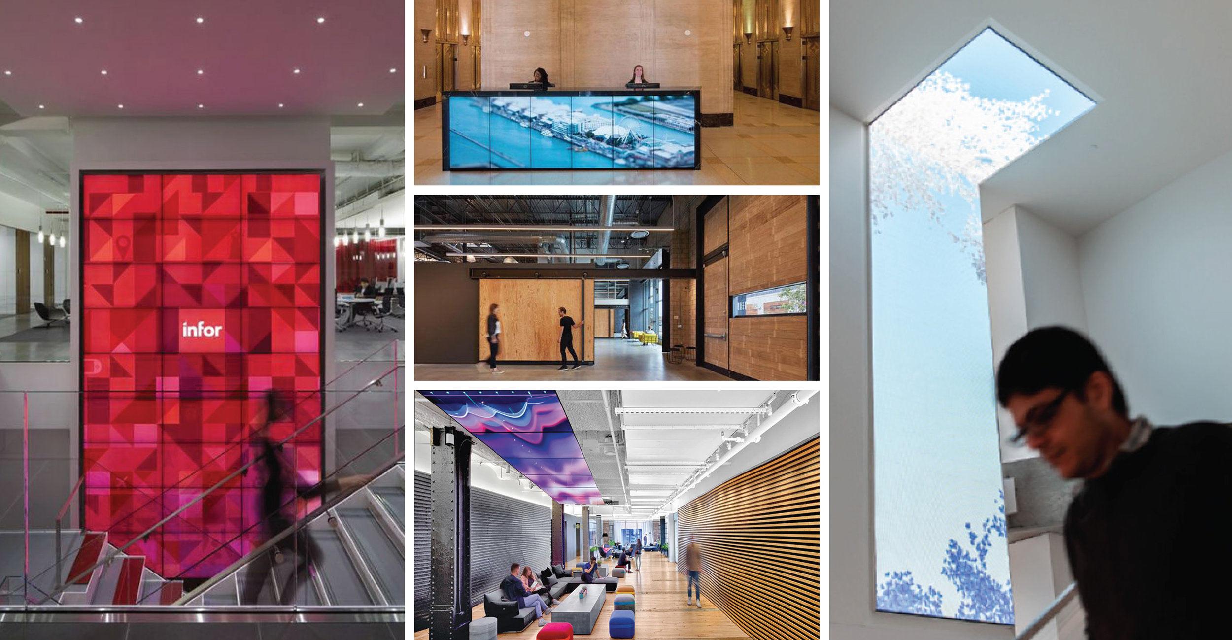digital branding collage at various companies