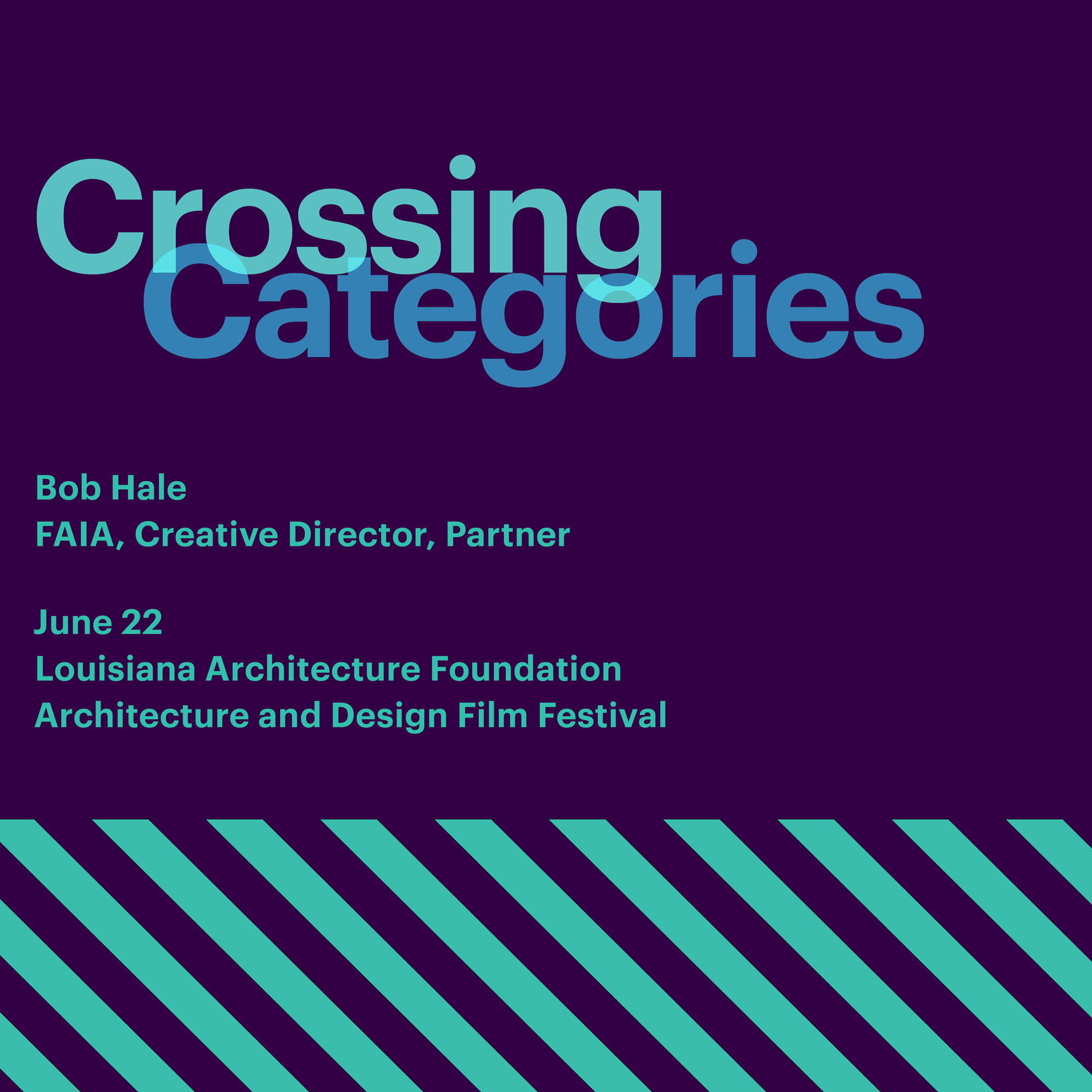 crossing categories event graphic