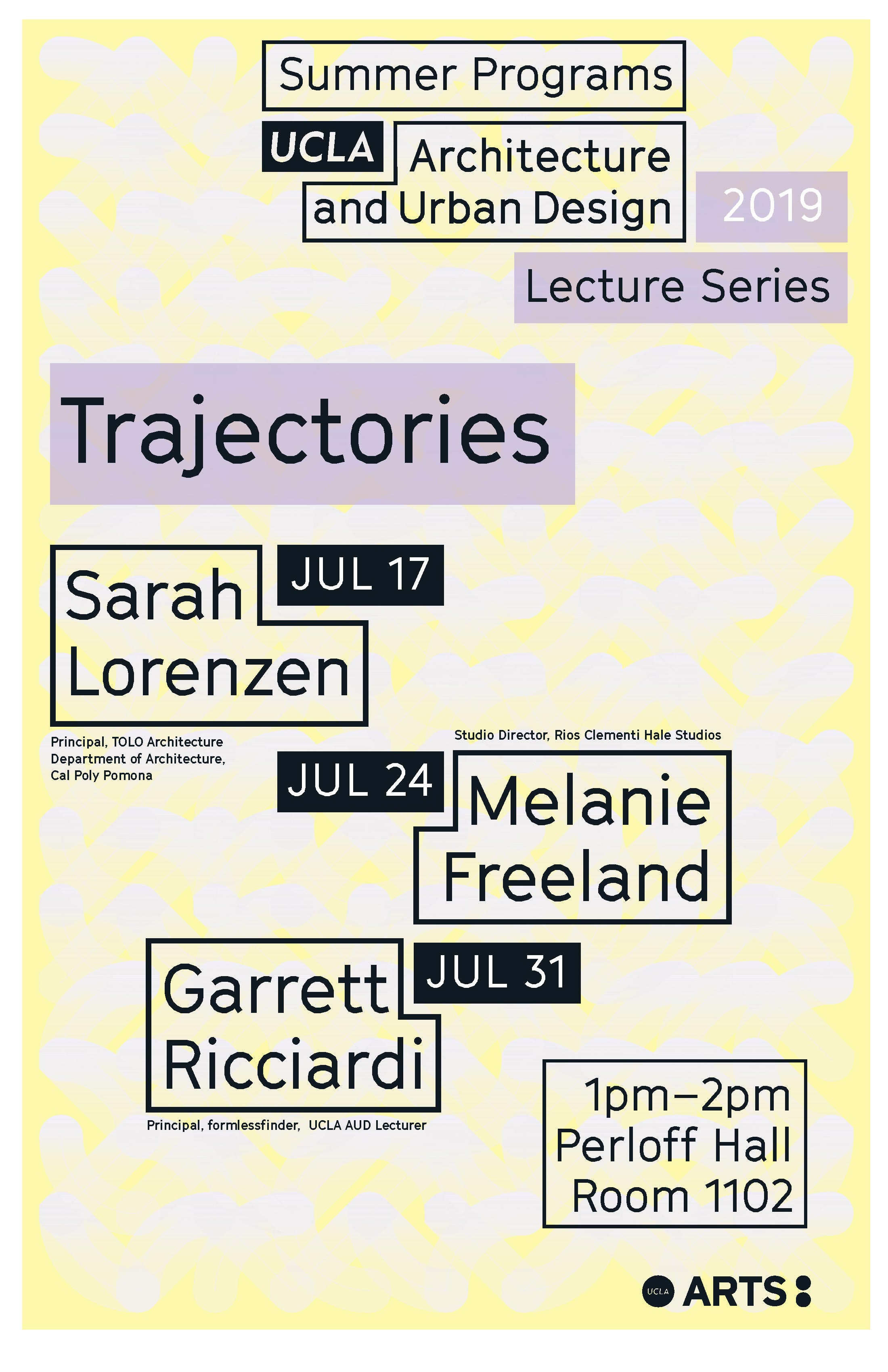 UCLA Lecture series flyer