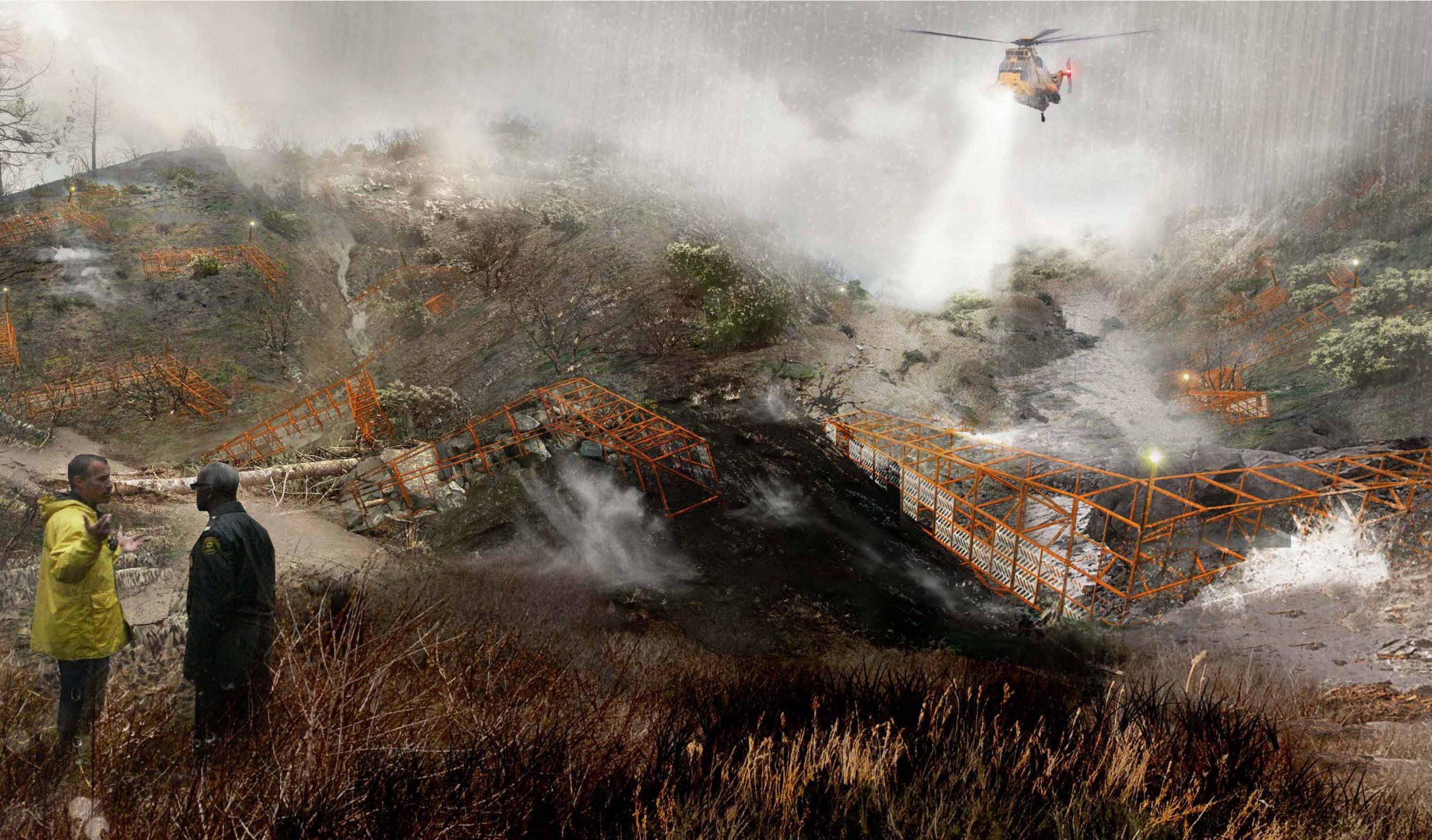 image of fire scorn land