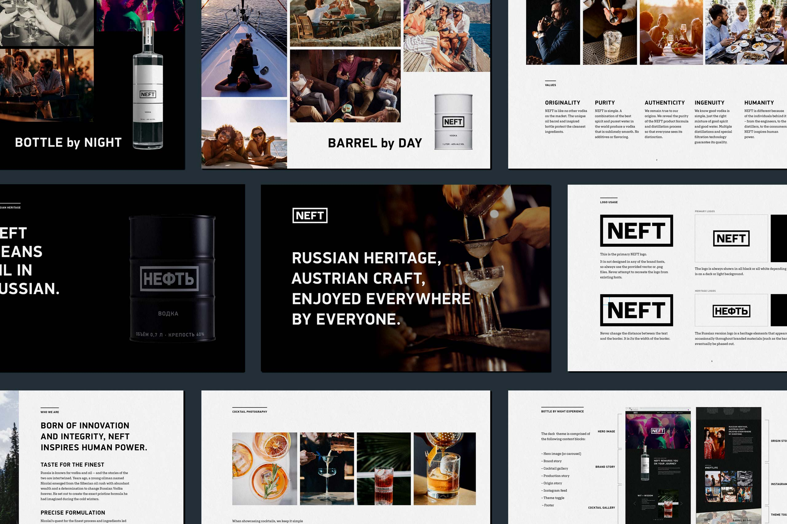 An example of NEFT brand guidelines by RIOS