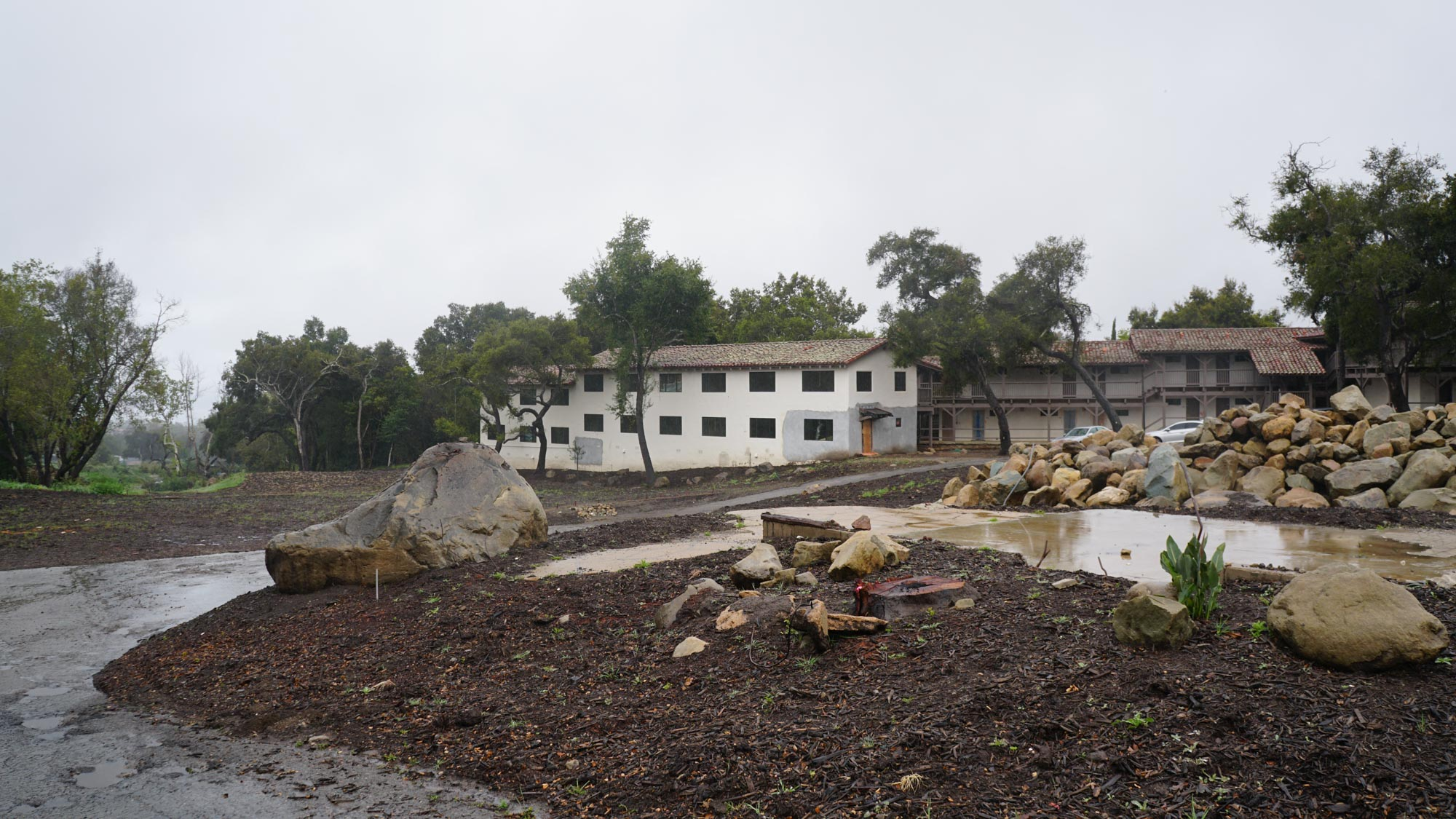 la Casa de Maria, burned and damaged after the events of the fire